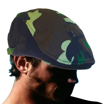 Cabbie Hat Great Gatsby Hat Camouflage Classic Great Gatsby Hat 1 SZ Fit