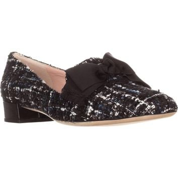 Kate Spade New York Gino Dress Loafers, Blue Tweed/Black, 8.5 US