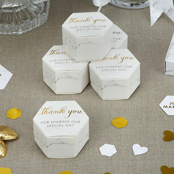 Scripted Marble - Favour Box Wedding table favour  Weddings, Christening, baby shower, Hen party,Bridal shower