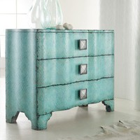 Hooker Furniture Melange Turquoise Crackle Chest