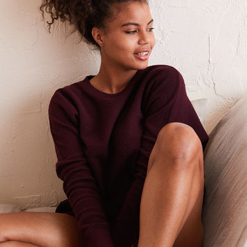 Aerie Hometown Sweatshirt, Deep Plum