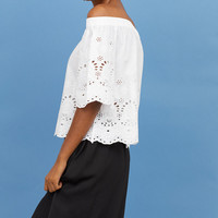 H&M Off-the-shoulder Blouse $29.99