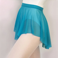 Cyan Blue Sheer Mesh Ballet Dance Skirt - SAB Style- Royall Dancewear-