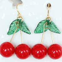 Cherry Cute Fashion Earrings Jewelry