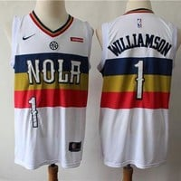 New Orleans Pelicans 1 Zion Williamson Reward Version Swingman Jersey