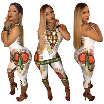 African Print Clothes Long Tops Two Piece Set Top And Pants Women