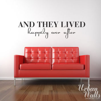 Vinyl Wall Decal Sticker Art, Happily Ever After
