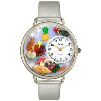 SheilaShrubs.com: Unisex Holiday Feast Gold Leather Watch U-1220037 by Whimsical Watches: Watches