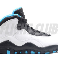 "air jordan 10 retro (gs) ""powder blue"" - white/dk powder blue-black - Air Jordan 10 - Air Jordans 