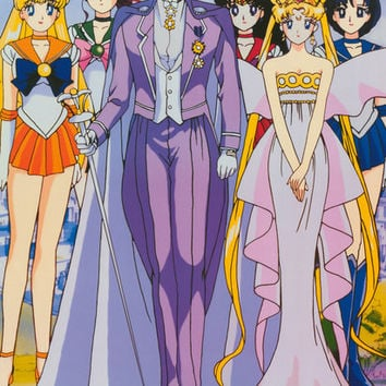 Sailor Moon Cast Portrait 1999 Poster 22x34
