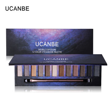 UCANBE Star 12 Color Warm Smoky Eyeshdow Palette Makeup Multiple Shimmer Matte Pigment Eye Shadow Easy To Creat Naked Make Up