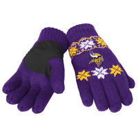 Minnesota Vikings Forever Collectibles Knit Lodge Gloves One Size