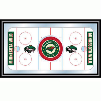 NHL Minnesota Wild Framed Hockey Rink Mirror