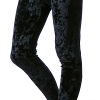 Bad Vibes The Damned Velvet Corset Leggings Black Velvet