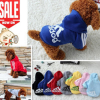 Dog Clothes Pet Coat Cotton Puppy Dogs Clothing Hoodie Sweater Shirt Adidog Costume Outfit Clohtes for Small Dogs