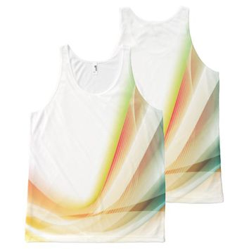 Abstract Swirl 2 All-Over Print Tank Top