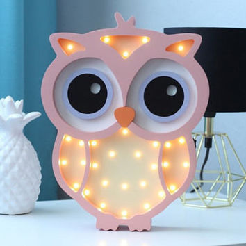 Night light for baby, Nightlight owl Gift for baby Night light Kids lamp Light Marquee lamp Personalized Baby Gifts For babyshower Owl lamp