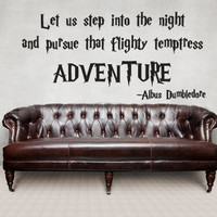 Dumbledore Adventure Quote Wall Decal Harry Potter