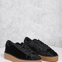 Crushed Velvet Low-Top Sneakers