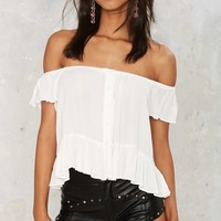 It Slit Peplum Top