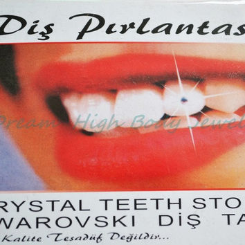 2016 New Style Temporary Tooth Jewels Finest Austrian Crystals Teeth Jewelry Crystals Fancy Girl's Body Jewelry sparkles 2mm Gem