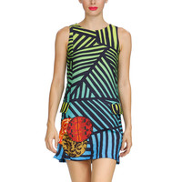 Desigual: Broken Stripe Dress Multi, at 48% off!