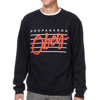 Obey Nine Nickel Navy Crew Neck Sweatshirt at Zumiez : PDP