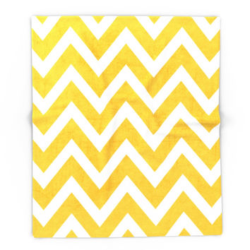 Society6 Yellow Chevron Blanket