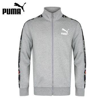 Original New Arrival 2018 PUMA Archive T7 jacket, Double Knit Men's jacket Sportswear