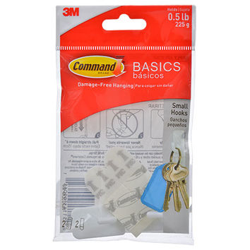 Bulk 3M Command Basics Small Plastic Hooks, 2-ct. Packs at DollarTree.com
