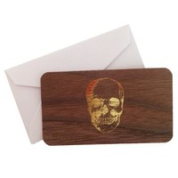 Mini Wood Card Skull