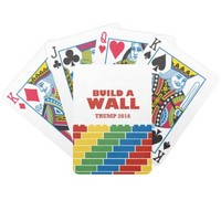 Build A Wall Trump 2016 Playing Cards