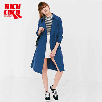 Fashion Autumn Women Casual Slim Jeans Long Sleeve Business Casual Suit Outerwear Jacket Windbreaker a13142