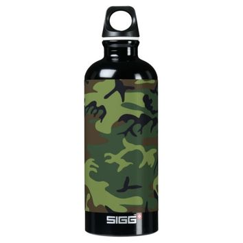 Military Green Camouflage SIGG Traveler 0.6L Water Bottle