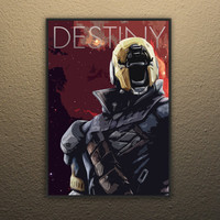 Destiny Poster, 11x17in, Video Game Digital Art, Simplistic, Print