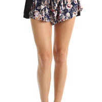 TIE IT UP FLORAL PRINT SHORTS