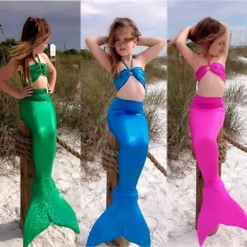 Toddler Mermaid Tail Swimsuit Costumes