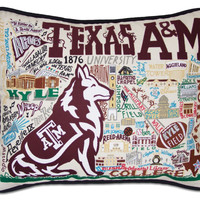 Texas A&M University Embroidered Pillow