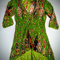 Jessica Taylor  apple green  tunic/top  size large -.
