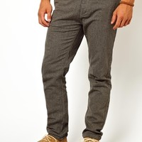 ASOS Slim Chino In Brushed Cotton