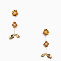 lavish blooms linear earrings | Kate Spade New York