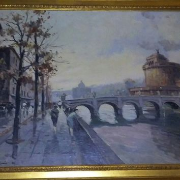 """Oil painting """"Paris"""" ( 1920-s), 2 x 3 ft, perfect cond."""