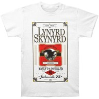 Lynyrd Skynyrd Men's  Manuf'd & Distilled Mens T T-shirt White