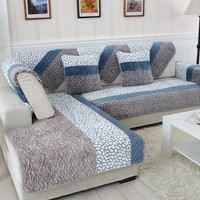 1 Piece Fleeced Fabric Sofa Cover European Style Soft Modern Slip Resistant Sofa Slipcover Seat Couch Cover for living Room