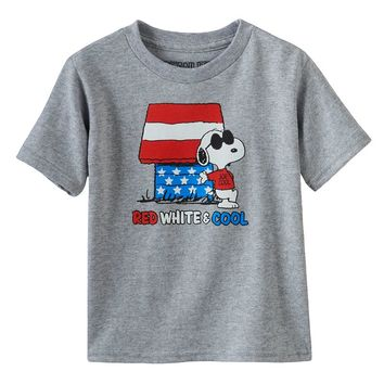 Peanuts Snoopy ''Red, White & Cool'' Patriotic Tee - Boys