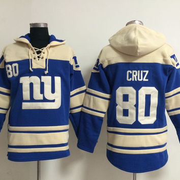 New York Giants - VICTOR CRUZ #80 Vintage NFL Sweatshirt