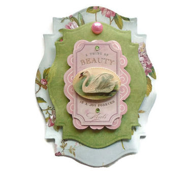 Scrapbook Embellishment, Birthday, handmade 3D,  Paper piecing, tags, Layouts, Cards, Mini Albums, Smash book