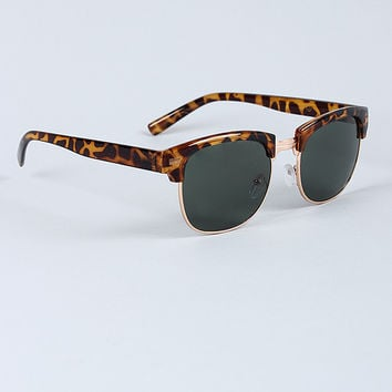 Tinted Frame Sunglasses