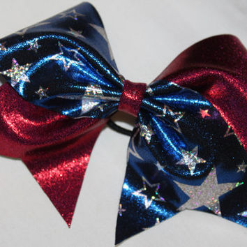 Patriotic cheer bow