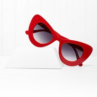 Cool Cat Red Oversized Shades